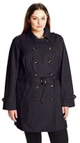 Jones New York Women's Plus-Size Double Breasted Trench Coat