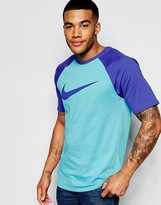 Nike Raglan T-shirt In Blue 779696-401