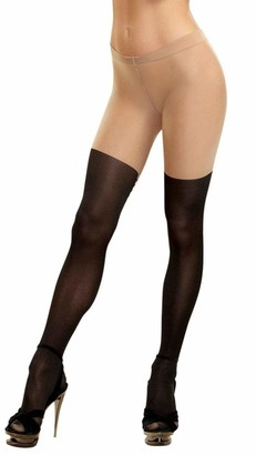 Dreamgirl Women's Nude Lace-Up Pantyhose