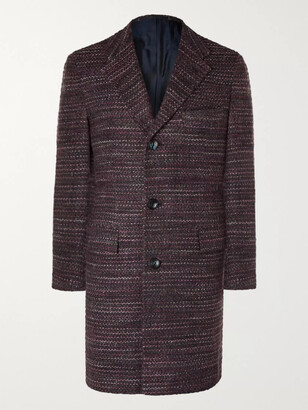 Kiton Cashmere, Virgin Wool And Silk-Blend Boucle Coat