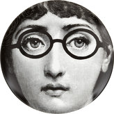 """Fornasetti Face With Glasses"""" Plate-BLACK"""