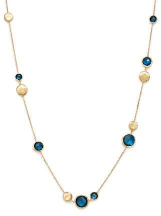 Marco Bicego 18K Yellow Gold Jaipur London Blue Topaz Collar Necklace, 16""