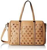 MG Collection Beatriz Cutout Bowling Tote Shoulder Bag