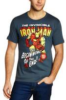 Logoshirt Men's Marvel - Iron Man Crew Neck Short Sleeve T-Shirt