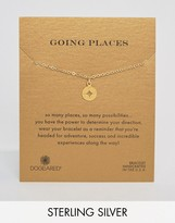 Dogeared Gold Plated Going Places Open Compass Reminder Bracelet