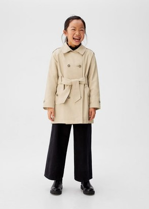 MANGO Classic belted trench medium brown - 8 - Kids