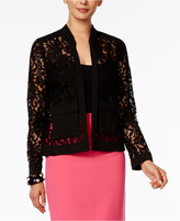 Alfani Petite Lace Bomber Jacket, Only At Macy's