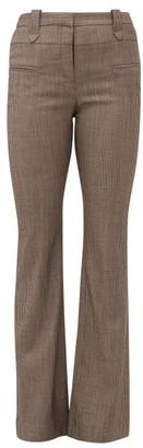 Altuzarra Serge Pinstripe Wool-blend Trousers - Womens - Brown