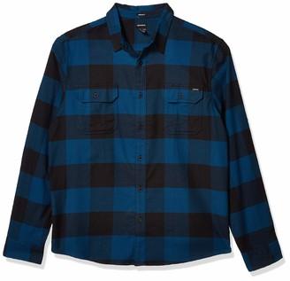 Dickies mens Long Sleeve Flex Flannel Woven Button Down Shirt