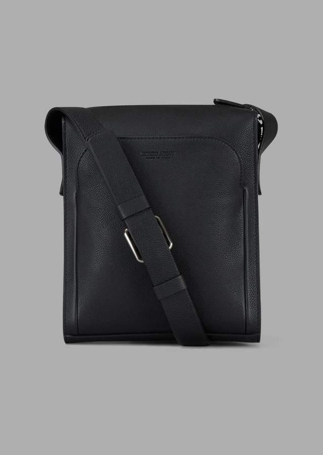 58f0ab310c Grainy Cross-Body Bag With External Pocket