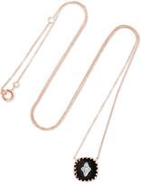 Pascale Monvoisin Pierrot N°2 9-karat Rose Gold, Bakelite And Diamond Necklace