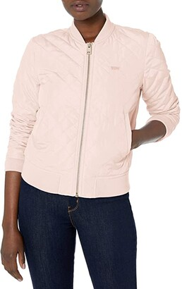 Levi's Diamond Quilted Bomber (Peach) Women's Clothing