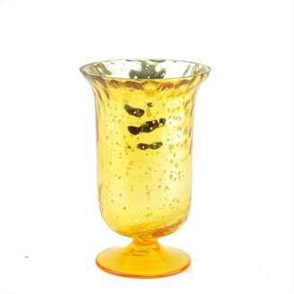 """Northlight 5.5"""" Decorative Yellow and Silver Mercury Glass Votive Candle Holder"""