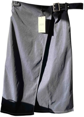 Dagmar Navy Cotton Skirt for Women