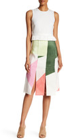 Tibi Pieza Colorblock Skirt