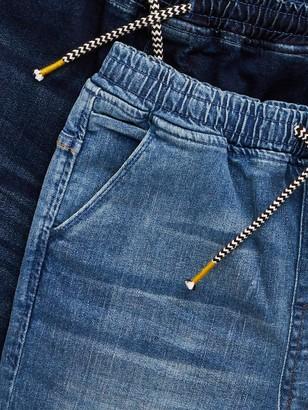 Very Boys 2 Pack Pull On Jogger Shorts - Dark Wash Light Wash