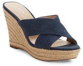424 Fifth Sadie Crisscross Espadrille Wedge Sandals