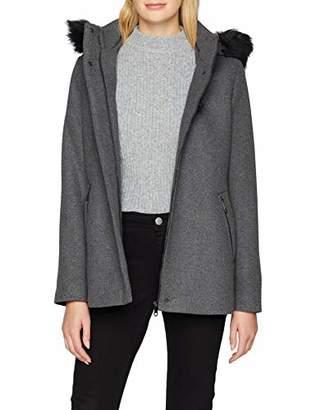 Esprit Women's 098ee1g050 Coat, Grey (Dark 020), Medium