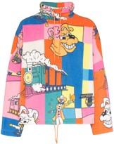 Martine Rose cartoon print fleece jumper
