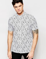 French Connection Short Sleeve Abstract Shirt