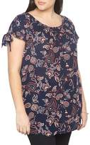 Evans Paisley Floral Tunic