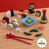 Kid Kraft Wooden Sushi Dinner Set with 23 Pieces WLM