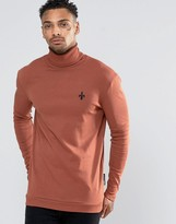 Criminal Damage Long Sleeve Roll Neck T-Shirt
