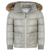 Pyrenex PyrenexGirls Pearl Authentic Down Padded Coat With Fur Trim