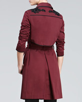 Jason Wu Trench with Embellished Trim