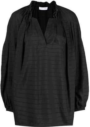 Christian Wijnants Stripe-Jacquard Tunic Top