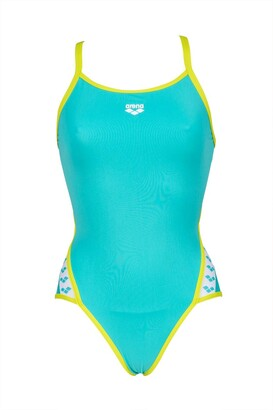 Arena Women's Team Stripe Superfly Back MaxLife One Piece Swimsuit