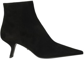 Prada Pointed Toe Side-zipped Boots