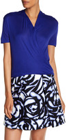 Karen Millen Draped Short Sleeve Blouse
