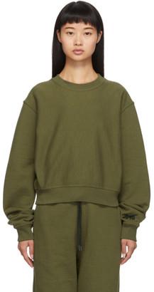 Reebok x Victoria Beckham Green Cropped Sweatshirt