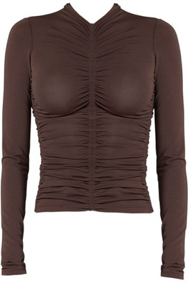 A.L.C. Ansel Ruched Long-Sleeve Top