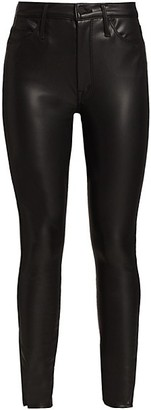 Mother High-Rise Vamp Faux Leather Pants