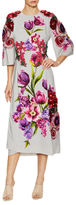 Dolce & Gabbana Floral Print And Applique Flared Dress