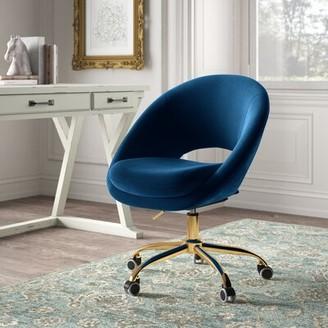 Kelly Clarkson Home Lourdes Velvet Task Chair Upholstery Color: Navy