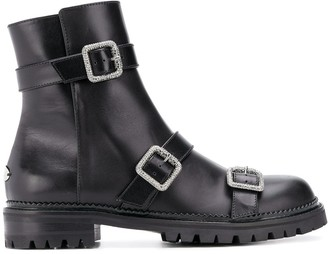 Jimmy Choo Hank jewel buckle boots