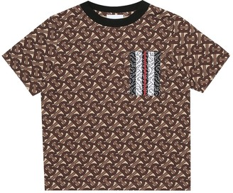 BURBERRY KIDS Monogram Stripe cotton jersey T-shirt