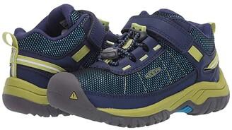 KEEN Kids Targhee Sport (Toddler/Little Kid) (Blue Depths/Chartreuse) Boy's Shoes