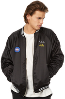 Stussy Spring Satin Reversible Mens Bomber Jacket Black