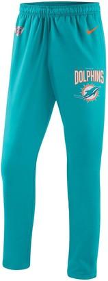 Nike Men's Aqua Miami Dolphins Sideline Practice Performance Pants