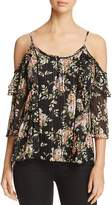 Daniel Rainn Floral Cold-Shoulder Top