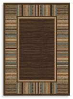 Bed Bath & Beyond Concord Global Border Brown 7-Foot 10-Inch x 10-Foot 10-Inch Indoor Rug