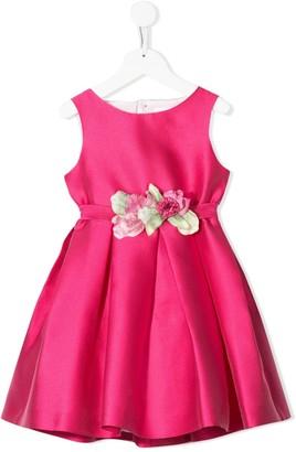 Mimilù Floral Embellished Cut-Out Detail Dress