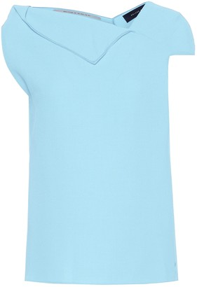 Roland Mouret Raywell wool crepe top