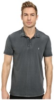 John Varvatos Soft Collar Peace Polo with Contrast Stitching and Peace Sign Chest Embroidery