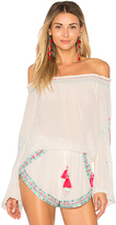 Rococo Sand X REVOLVE Off the Shoulder Top in White. - size L (also in S,XS)