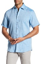 Report Collection Short Sleeve Linen Regular Fit Shirt